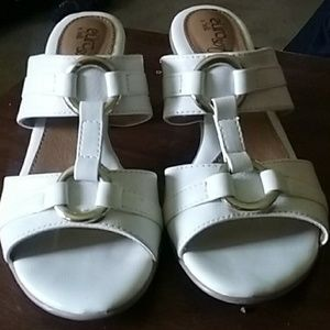 Euro sofft white sandals